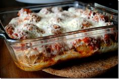 Lightened Up Meatball Casserole | Peanut Butter Fingers