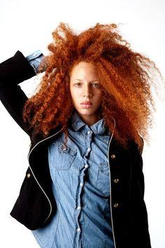 """Insta-Stalking: Natural-Hair Envy With Urban Bush Babes"" Natural Afro Hairstyles, Girl Hairstyles, Curly Hair Styles, Natural Hair Styles, Curly Kids, Red Curls, Hair Color Dark, Hair Colour, Natural Redhead"