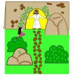Easter kids crafts, Jesus Resurrection craft for preschoolers and all kids. Super fun!