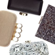 Minaudières. THE holiday statement clutch. #AllThatGlitters #Sparkle #Jewels #Handbags #Party