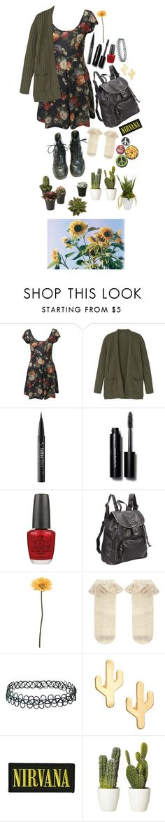 """""""I Want to Be a Garden"""" by creepylittleelf ❤ liked on Polyvore featuring Miss Selfridge, House of Fraser, Kat Von D, Bobbi Brown Cosmetics, OPI, Preferred Nation, Gerber, Monsoon, Topshop and CAM"""