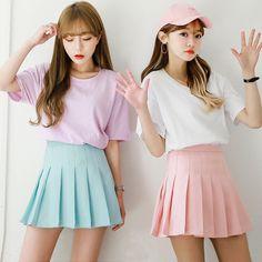 "Lovely buyershow pic from @mekkakyu on instagram ^_^ Color:pink.light blue.white.black. Size:S.M.L.XL. Size S: Length:36cm/14.04"".Waist:64cm/24.96"".Hip:84cm/32.76"". Size M: Length:36cm/14.04"".Waist:68"