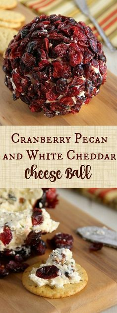 Cranberry Pecan and White Cheddar Cheese Ball christmast cranberry cheese ball Finger Food Appetizers, Appetizers For Party, Appetizer Recipes, Finger Foods, Cheese Appetizers, Picnic Recipes, Tapas, Cranberry Cheese, Cranberry Sauce