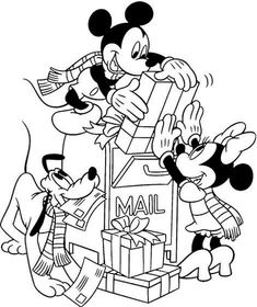 28 Free Printable Disney Christmas Coloring Pages - World Of Makeup And Fashion
