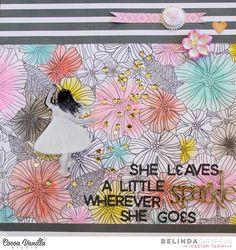 Sparkle | Hello Lovely Layout | Belinda Griffin | Cocoa Vanilla Studio