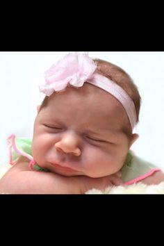 Baby girl chin pose. Precious. Newborn. Photo idea. Photography.