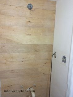 Faux Shiplap tips with underlayment or plywood Faux Shiplap, White Shiplap, Installing Shiplap, Makeover Before And After, Black Space, Big Box Store, Red Walls, Home Decor Kitchen, Bamboo Cutting Board