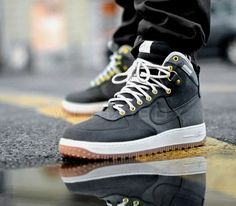 Nike Air Force 1 Duckboot – Anthracite / Gum