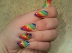 Her cuticles need to be oiled but the nail design is cute!