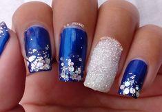 Glitter Manicure #GlitterManicure #Nailart #Glitterpowder