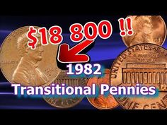 Are Your 1982 Pennies Worth Money, Large and Small Date Varieties Explained Valuable Pennies, Rare Pennies, Valuable Coins, Sell Coins, Us Coins, Most Expensive Penny, Penny Values, Old Coins Worth Money, American Coins