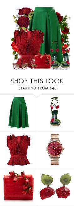 """""Art of Shoes"" - Manolo Blahnìk! - Contest!"" by asia-12 ❤ liked on Polyvore featuring Chicwish, Manolo Blahnik, Oscar de la Renta, Thomas Sabo, Nancy Gonzalez and MCM"