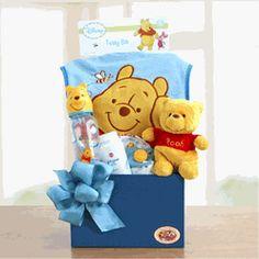 Winnie The Pooh Welcome Baby Boy Gift Basket