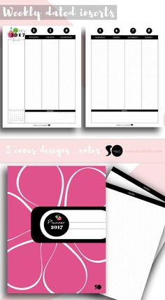 2017 Printable Planner - Full 2017 planner kit - 2017 Seasonal Design -LETTER SIZE - PRINTABLE PLANNER  • 3 PLANNER COVERS (Scandinavian style - Draw it yourself - Pink Blossom) • 2017 YEARLY INSERT • MONTHLY PLANNER PACK (DATED) • WEEKLY DATED PLANNER INSERTS • MONTHLY GOAL PLANNER PACK OF 12 PAGES (PLAIN) • MONTHLY GOAL PLANNER PACK OF 12 PAGES (BLOSSOM - Name & Draw each leaf) • DOTTED NOTES INSERT  2017 Full planner kit with everything you need to organize a new life, a new updated best…