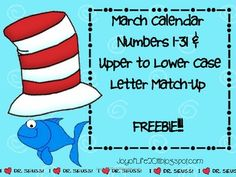 I hope you can use these March calendar number and upper to lower case letter freebie. The calendar numbers are an AABB pattern with a March theme....