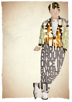 STANDARD SIZE Ferris Bueller typography print based on a quote from the movie Ferris Bueller's Day Off