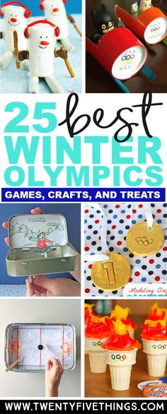 This is the best collection of Winter Olympics ideas for kids. There are games, crafts, and treats so definitely something for everyone. What a great way to celebrate the Winter Olympics with kids! #Olympics #KidsActivities