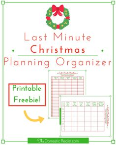 Last Minute Christmas Planning Organizer | The Domestic Realist