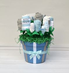 Baby Layette Gift Basket Baby Shower Gift Set by babyblossomco