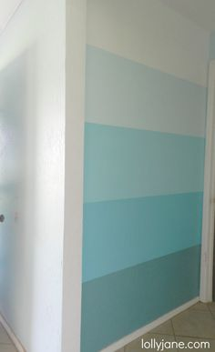 ombre wall -- complete instructions from lollyjane.com