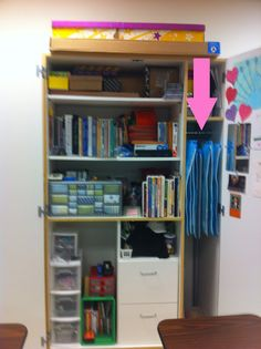Easy and cheap way to organize and store anchor charts and posters