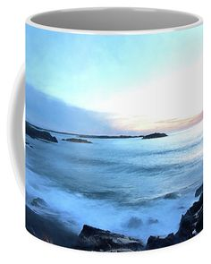 Dawn arrives at Castle Rock Coffee Mug by Jeff Folger. Marblehead Massachusetts, Mugs For Sale, Castle Rock, Christmas Eve, The Rock, New England, Dawn, Coffee Mugs, Rocks