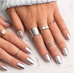 High shine and metallics are in this winter! Book and appointment with one of our nail artists and get a manicure that will stand out this season!! #winterwednesday #lamiennebeauty #winternails Repost from: @jamberry