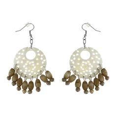 Round Dangle Earrings Handmade Fashion Jewelry from India   ShalinIndia - Jewelry on ArtFire