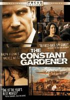 The constant gardener (2005)  [videorecording]  Focus Features ; Potboiler Productions ; Scion Films Limited ; UK Film Council ; produced by Simon Channing-Williams ; screenplay by Jeffrey Caine ; directed by Fernando Meirelles.  (Series: Focus Features spotlight series.)