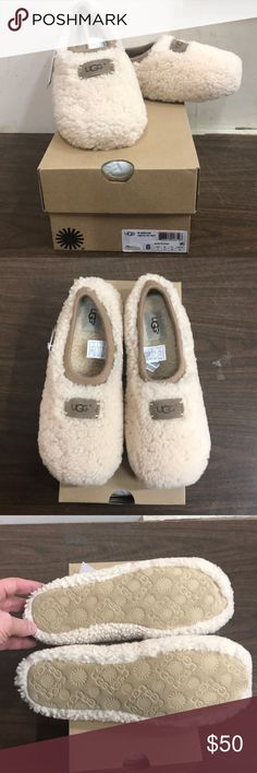 Women's UGG Birche Natural Slipper A perfect, cozy UGG slipper for all those lazy days at home. Authentic, new, unworn and a great price. End of the season value that can't be beat! UGG Shoes Slippers