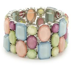 RAIN Pastel Stretch Stone Bracelet (455 VEF) ❤ liked on Polyvore featuring jewelry, bracelets, accessories, joyas, pulseras, circle jewelry, pastel jewelry, stretch jewelry, stackers jewelry и polish jewelry