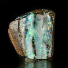 Boulder Opal - Lightning Ridge Opal Field, Finch Co., New South Wales, Australia Source: ebay.co.uk opal australia minerals rocks nature boulder opal opal australia rainbow