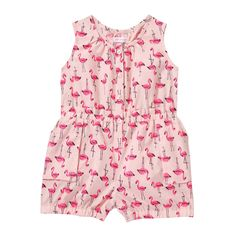 Baby Girls' Print Sleeveless One Piece in Pink from Joe Fresh