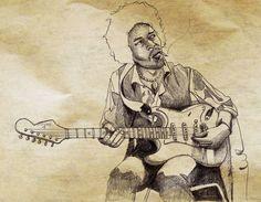 Hendrix, dessin… (crayon)  ©Antoine Digout