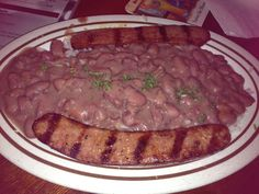 Red Beans and Rice with Smoked Sausage at Acme Oyster House - so creamy and luscious!
