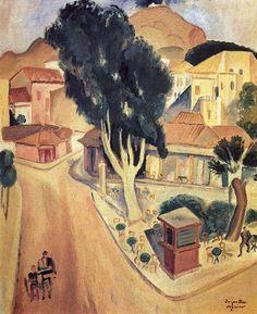 Greek Paintings, Mediterranean Art, Greek Art, 10 Picture, Conceptual Art, Artist Painting, Fresco, Art Images, Printmaking