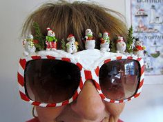 DIY Sunglasses : DIY Snowman Scene Sunglasses