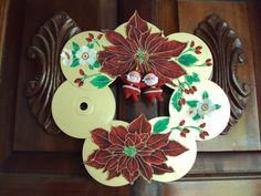navidad_07 Christmas Decorations To Make, Christmas Crafts, Christmas Ornaments, Holiday Decor, Decorative Plates, Diy Crafts, Home Decor, Charleston, Ideas Para