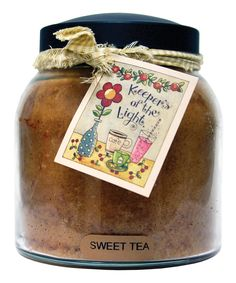 Sweet Tea Homespun Ribbon 34-Oz. Papa Jar Candle