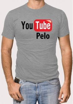 Camiseta You Tube Pelo Mens Polo T Shirts, Order T Shirts, Personalized T Shirts, Casual Elegance, Custom T, Cute Shirts, Cotton Tee, Colorful Shirts, Shirt Designs