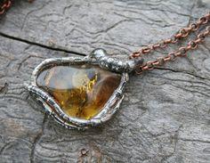 baltic amber pendant amber pendant gemstone by Blacksmithworkshop