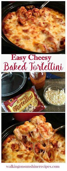 Cheesy Baked Tortellini Casserole from Walking on Sunshine.