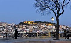 unternehmen: schönste Aussicht auf dem Miradouro S. Pedro de Alcântara