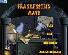 """Para la celebración de Halloween, """"Frankenstein Math"""" te invita a que calcules las endemoniadas sumas, en varios niveles de dificultad sucesivos y con tiempo limitado, que el monstruo te propone: muy fáciles al principio y muy difíciles muy pronto, hasta con resultados con números negativos."""