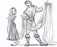 Rapunzel and Flynn | Drawing by Disney Animator Glen Keane