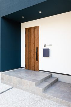 Navy Houses, Takachiho, Building Facade, Back Doors, Cladding, Home Renovation, Garage Doors, Villa, Backyard