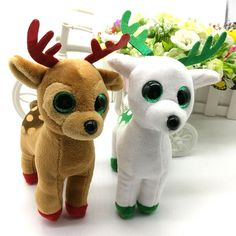 TY BEANIE BOOS collection sika deer BIG EYES Plush Toys Stuffed animals