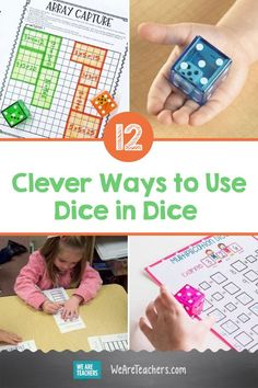 Dice in Dice Are a Thing 🤯 Clever Ways to Use Them. Dice activities are a fun way to learn math skills, and Dice in Dice games are twice as nice! Here are some ideas for using these cool math manipulatives. Graphing Activities, Math Manipulatives, Teaching Kindergarten, Teaching Kids, Discounts For Teachers, Classic Card Games, Counting For Kids, We Are Teachers, Math Coach