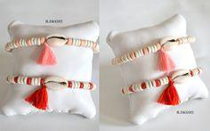 Bracelets, cords, beads, shells, beige, pink, red, tassels!!! Il Tacco!!!