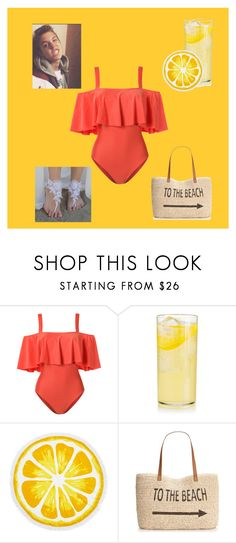 """""""Mathew Espinosa beach"""" by dance-nation ❤ liked on Polyvore featuring ADRIANA DEGREAS, Nordstrom Rack and Style & Co."""